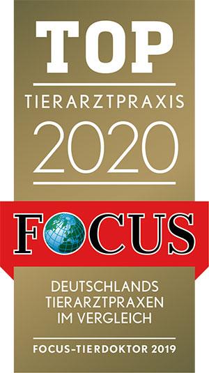 Kleintierpraxis Stührenberg zu wir wurden vom Focus zu den Top Tierarztpraxen 2020 gewählt.